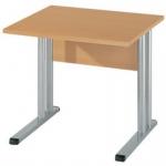 Schreibtisch BÜRO COMBI+ 4, 800 mm C-Fußgestell Alu