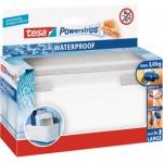 tesa Powerstrips Regal ZOOM WATERPROOF, silber / weiß