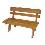 Gartenbank Holzbank 2 Sitzer aus Kiefernholz massiv hellbraun