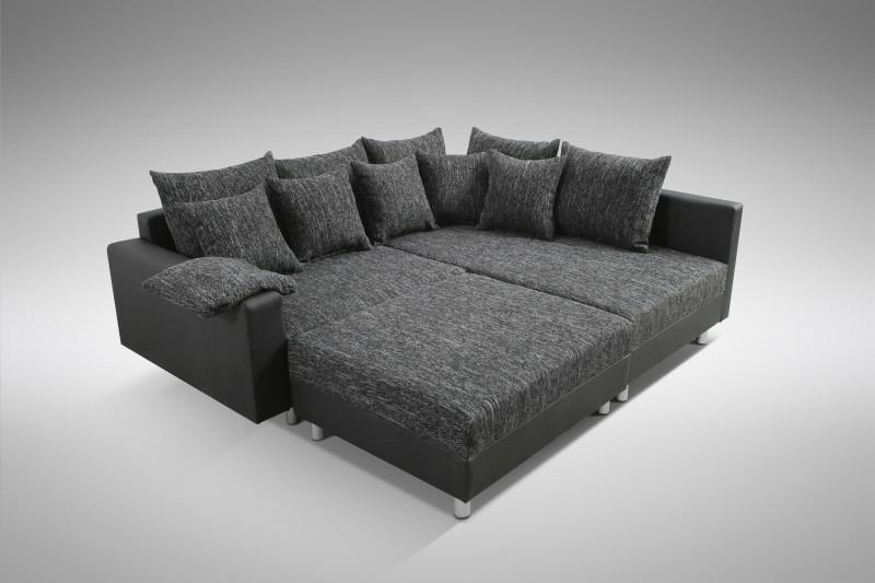 modernes sofa couch ecksofa eckcouch in schwarz eckcouch mit hocker minsk r kaufen bei. Black Bedroom Furniture Sets. Home Design Ideas