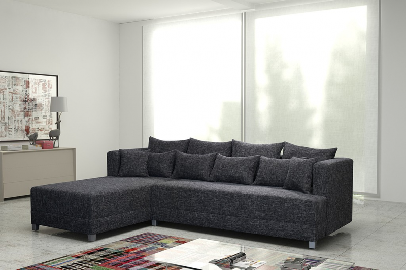 schlafsofa sofa couch ecksofa eckcouch in grau mit schlaffunktion wien 2 l kaufen bei. Black Bedroom Furniture Sets. Home Design Ideas