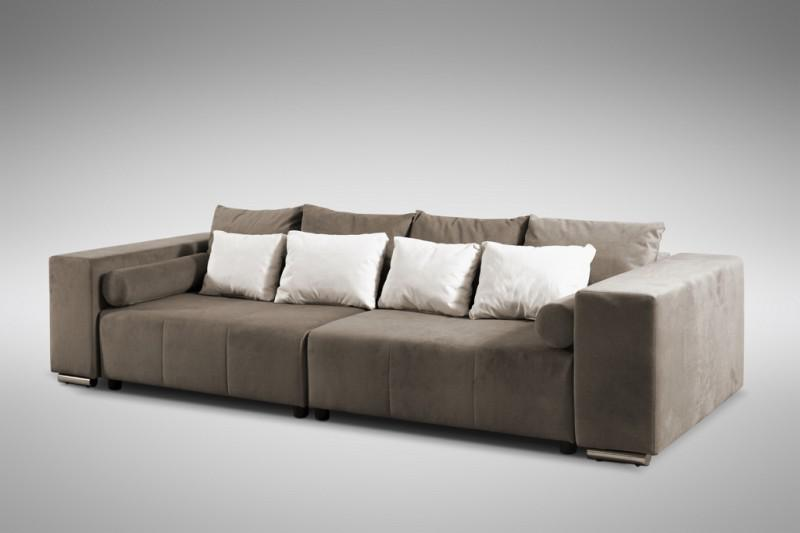 modernes schlafsofa sofa couch big sofa in braun. Black Bedroom Furniture Sets. Home Design Ideas