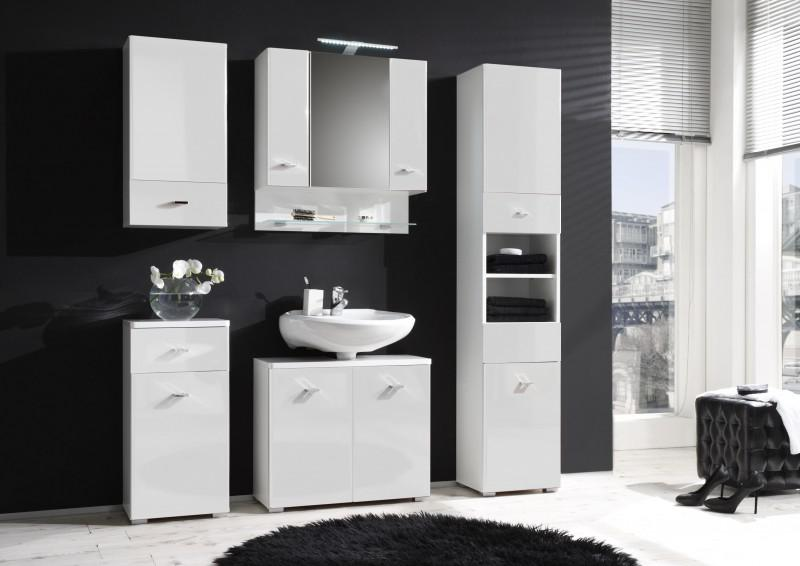badm bel badezimmer maria i 5tlg set in hochglanz. Black Bedroom Furniture Sets. Home Design Ideas
