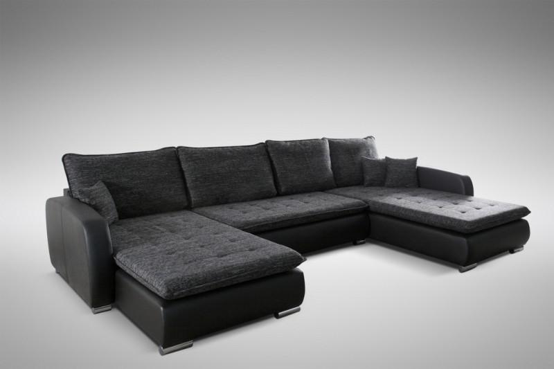 schlafsofa sofa couch ecksofa eckcouch in schwarz. Black Bedroom Furniture Sets. Home Design Ideas