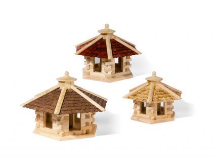 holzwaren wasmer vogelhaus 6 eck kaufen bei holzwaren wasmer. Black Bedroom Furniture Sets. Home Design Ideas