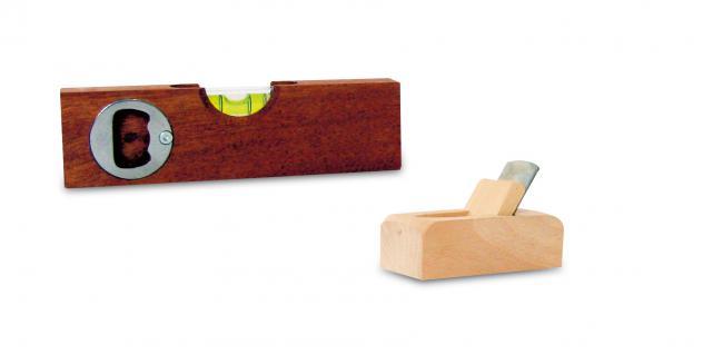 Holzwaren Wasmer Flaschenöffner-Wasserwaage