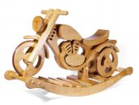 Holzwaren Wasmer Schaukelmotorrad Rad