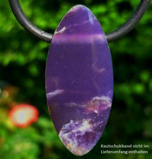 Chalcedon violett (Lavendelchalcedon), Anhänger seitlich gebohrt