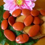 Jaspis rot oval gebohrt, 30 mm, Strangware einzeln