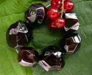 Granat, polierte Rohkristalle, seitlich gebohrt