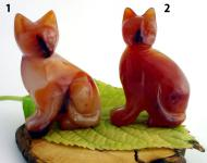 Tiergravur Katze Carneol