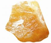 Orangencalcit Rohsteinbrocken, 1 Stück