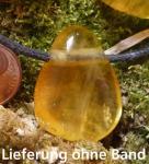 Fluorit gelb Trommelstein seitlich gebohrt