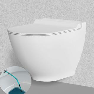 Bien THOR NANO Anti-Bakteriell ANti-Kalk Hänge Dusch Wc Taharet Bidet Taharat Intimdusche mit Soft-Close Deckel