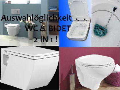Hänge Wand Dusch Wc Eckig Taharet Bidet Taharat Toilette Creavit SR320 mit flach Düse inkl. Soft-Close Wc Sitz - Vorschau 4