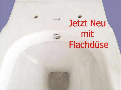h nge wand dusch wc taharet bidet taharat toilette creavit fr320 mit flach d se inkl wc sitz. Black Bedroom Furniture Sets. Home Design Ideas