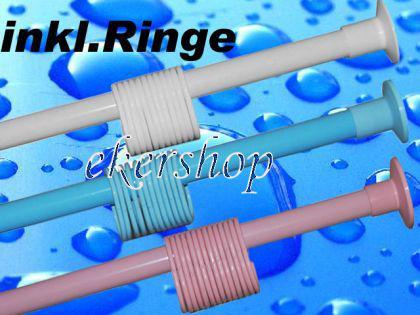 Duschvorhangstange 120 - 210 cm Blau Teleskopstange Klemmstange NEU - Vorschau 1