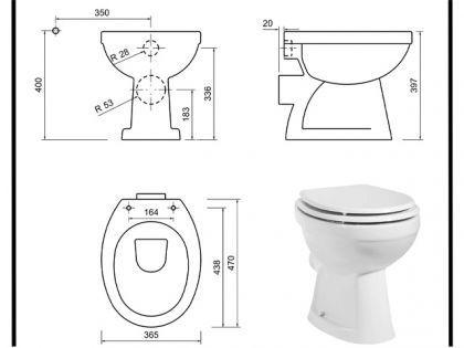 Stand Tiefspül DUSCH Wc Taharet, Bidet, Taharat Toilette Sitz Creavit TP310 Tahara - Vorschau 3