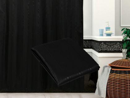 textil duschvorhang 180 x 200cm schwarz in sich gestreift inkl ringe kaufen bei ekershop. Black Bedroom Furniture Sets. Home Design Ideas