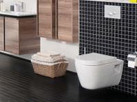 Hänge Wand Dusch Wc Taharet Bidet Taharat Toilette Creavit FR320 mit flach Düse inkl. Wc Sitz