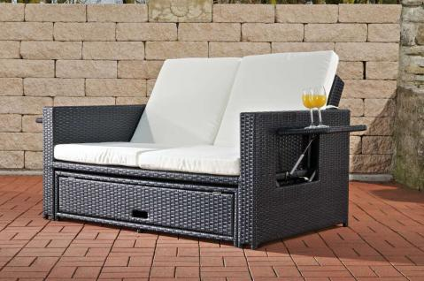 gartensofa verstellbar polyrattan schwarz garten outdoor. Black Bedroom Furniture Sets. Home Design Ideas
