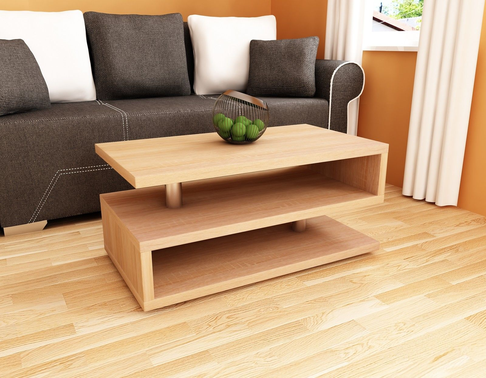 couchtisch modern 110cm wohnzimmertisch 100x55cm sofatisch tisch design holz kaufen bei madera. Black Bedroom Furniture Sets. Home Design Ideas