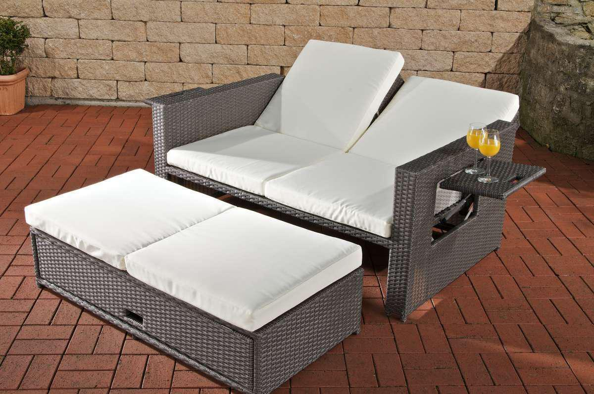 gartensofa verstellbar polyrattan grau funktionssofa garten outdoor sonnenliege kaufen bei. Black Bedroom Furniture Sets. Home Design Ideas