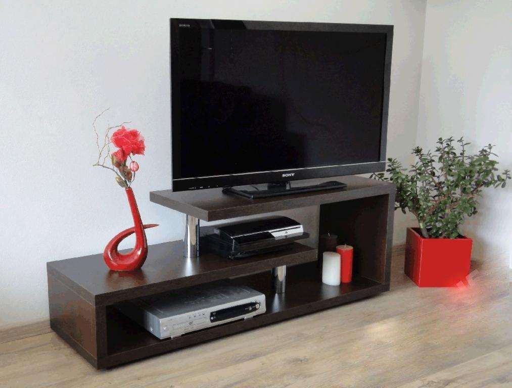 tv regal 120 cm lcd fernsehschrank rack hifi lowboard. Black Bedroom Furniture Sets. Home Design Ideas