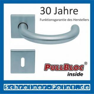 Scoop Baloo quadrat PullBloc Quadratrosettengarnitur, Rosette Edelstahl matt