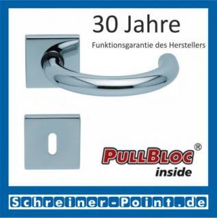Scoop Baloo quadrat PullBloc Quadratrosettengarnitur, Rosette Edelstahl poliert