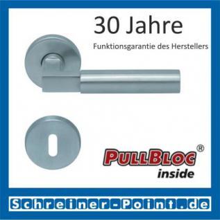 Scoop Bauhaus PullBloc Rundrosettengarnitur, Rosette Edelstahl matt! - Vorschau 1