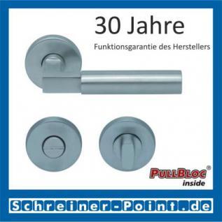 Scoop Bauhaus PullBloc Rundrosettengarnitur, Rosette Edelstahl matt! - Vorschau 3