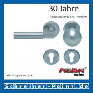 Scoop Bauhaus PullBloc Rundrosettengarnitur, Rosette Edelstahl matt! - Vorschau 5
