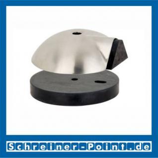 Edelstahl Türstopper Türpuffer Bodentürpuffer Edelstahl matt 84 mm mit und ohne Fußplatte