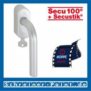 Hoppe Bonn Aluminium Fenstergriff abschließbar F1-2 Natur matt Secu100 + Secustik 150F/US950S (100 Nm), 2547780, 2547798 - Vorschau 1