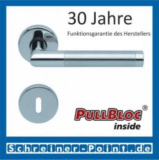 Scoop Chiara PullBloc Rundrosettengarnitur Edelstahl poliert / Edelstahl matt, Rosette Edelstahl poliert - Vorschau 1