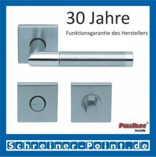 Scoop Chiara quadrat PullBloc Quadratrosettengarnitur, Edelstahl poliert/Edelstahl matt, Rosette Edelstahl matt - Vorschau 3