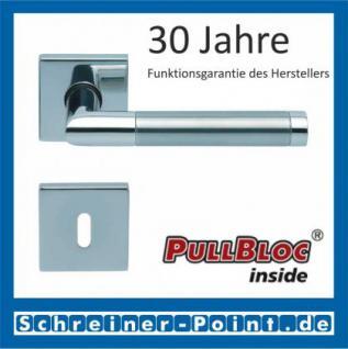 Scoop Chiara quadrat PullBloc Quadratrosettengarnitur, Edelstahl poliert/Edelstahl matt, Rosette Edelstahl poliert