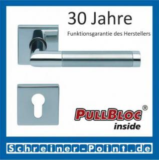 Scoop Chiara quadrat PullBloc Quadratrosettengarnitur, Edelstahl poliert/Edelstahl matt, Rosette Edelstahl poliert - Vorschau 2