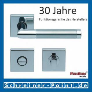 Scoop Chiara quadrat PullBloc Quadratrosettengarnitur, Edelstahl poliert/Edelstahl matt, Rosette Edelstahl poliert - Vorschau 3