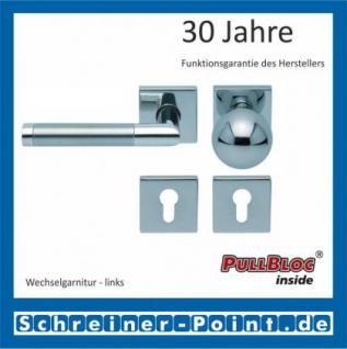 Scoop Chiara quadrat PullBloc Quadratrosettengarnitur, Edelstahl poliert/Edelstahl matt, Rosette Edelstahl poliert - Vorschau 5