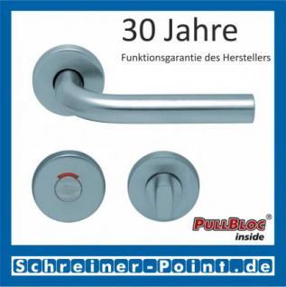 Scoop Duo PullBloc Rundrosettengarnitur, Edelstahl poliert/Edelstahl matt, Rosette Edelstahl matt - Vorschau 4