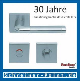 Scoop Duo quadrat PullBloc Quadratrosettengarnitur, Edelstahl poliert/Edelstahl matt, Rosette Edelstahl matt - Vorschau 4