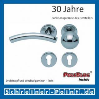 Scoop Fabo PullBloc Rundrosettengarnitur, Rosette Edelstahl poliert - Vorschau 5