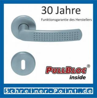 Scoop Fantasia PullBloc Rundrosettengarnitur nickelmatt, Rosette Edelstahl matt
