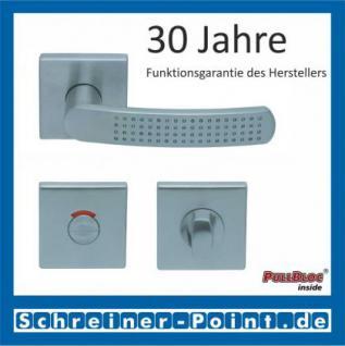 Scoop Fantasia quadrat PullBloc Quadratrosettengarnitur nickelmatt, Rosette Edelstahl matt - Vorschau 4