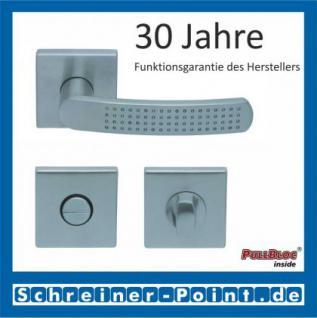 Scoop Fantasia quadrat PullBloc Quadratrosettengarnitur nickelmatt, Rosette Edelstahl matt - Vorschau 3