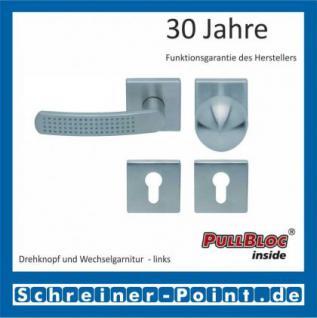 Scoop Fantasia quadrat PullBloc Quadratrosettengarnitur nickelmatt, Rosette Edelstahl matt - Vorschau 5