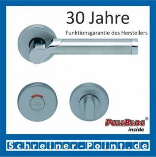 Scoop Fina II PullBloc Rundrosettengarnitur, Edelstahl poliert/Edelstahl matt, Rosette Edelstahl matt - Vorschau 4