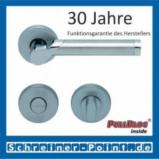 Scoop Fina II PullBloc Rundrosettengarnitur, Edelstahl poliert/Edelstahl matt, Rosette Edelstahl matt - Vorschau 3